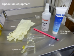 Speculum equipment